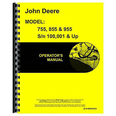 Operator's Manual for John Deere 955 Tractor