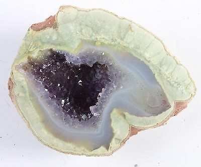 "Amethyst Quartz Geode Unpolished   3 X 2 1/4""  #6"