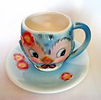LEFTON / BLUEBIRD Cup & Saucer / Hard-to-Find