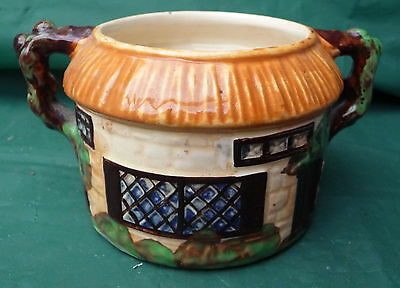 Vintage Beswick Country Cottage Sugar Bowl Jam Pot Granny Chic