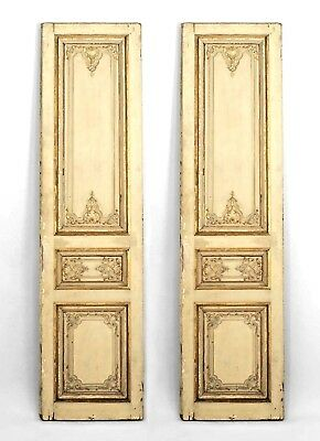 Pairs of French Louis XV Style Parcel Gilt & White Painted Doors