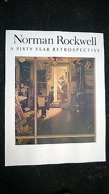 """Norman Rockwell """"A Sixty Years Retrospective"""" Original Vintage Poster 1950 Japan"""