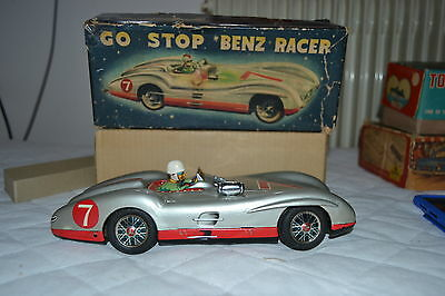 TIN MARUSAN TOYS 3355  MERCEDES BENZ RACER 7 MADE IN JAPAN 50's