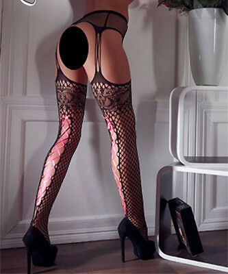 Fishnet Stocking Style Suspender Belt Tights by Cottelli Collection