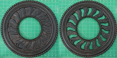 Antique 2pc Cast Iron Stove Pipe Collar Vintage Adj Vent Grate Register Cover