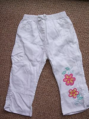 White Cargo Trousers / Age 12-18 months / Ex. Condition/Summer Trousers
