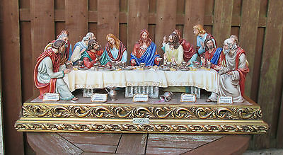 "Huge Capodimonte Figure Group ""the Last Supper"" (Jesus) By Cortese"