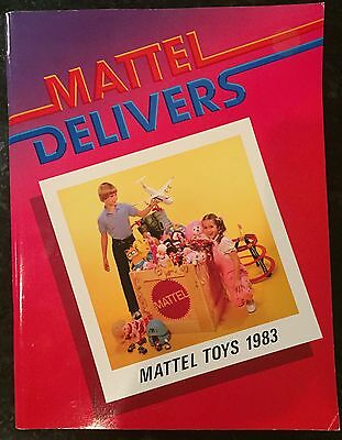 Vintage  Mattel Delivers 1983 Advertising Catalog   He-Man / Barbie / Hot Wheels
