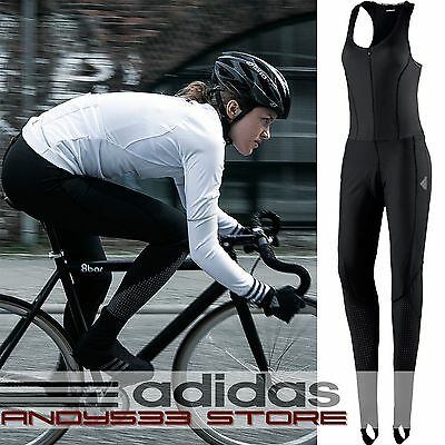 adidas Performance Cycling Padded Winter Bib Tights Belgements Women's One Piece