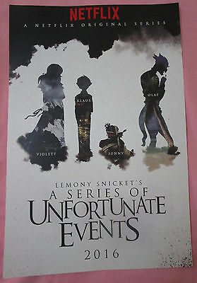 Lemony Snicket's A Series Of Unfortunate Events TV Show Promo Poster Comic Con