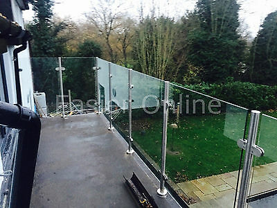 10mm Toughened Glass Panels Balustrade Railing Glazing & Stainless Steel Poles