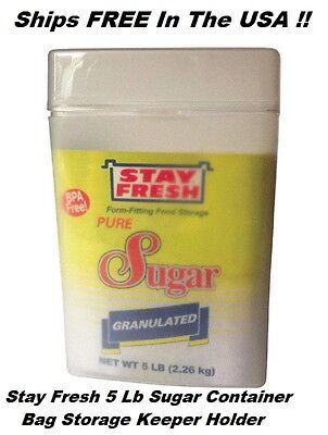 5 LB Sugar - Container / Cannister / Storage Freshnes Keeper BPA FREE Ships FREE