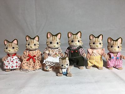 Calico critters/sylvanian families Sandy Cat family of 7