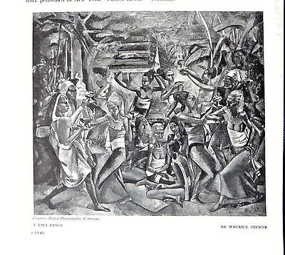 1917 BALI paintings drawings MAURICE STERNE Studio antique ARTICLE Indonesia pix
