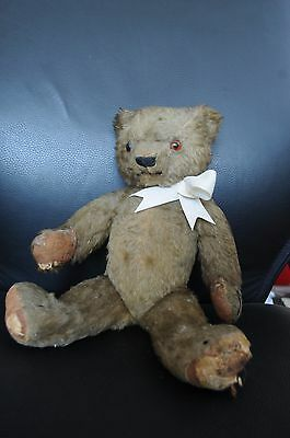 "rare vintage bear 1930's chad valley 14.5"" tall"