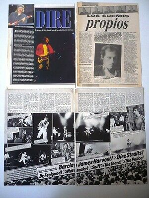 DIRE STRAITS - LOT OF 17 ORIGINAL MAGAZINE CLIPPINGS VERY RARE L@@K Argentina