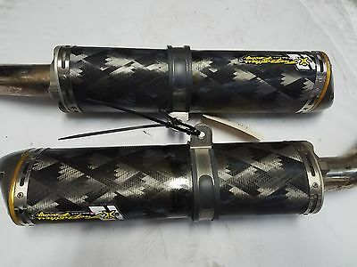 2007 2008 Yamaha Yzf R1 Two Brothers Slip On Exhaust Muffler Carbon Fiber 07 08