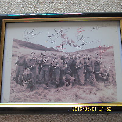 Framed picture of the cast of DAD'S ARMY with original signatures