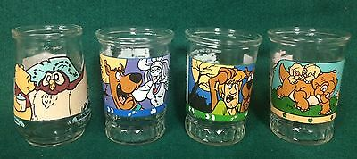 Welch's Disney Winnie The Pooh Scooby Doo & Land Before Time Jelly Jar Glass Lot