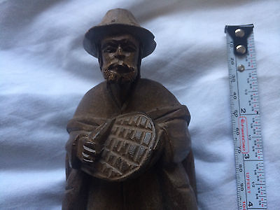 """Hand carved figure Man  8 """" Tall"""