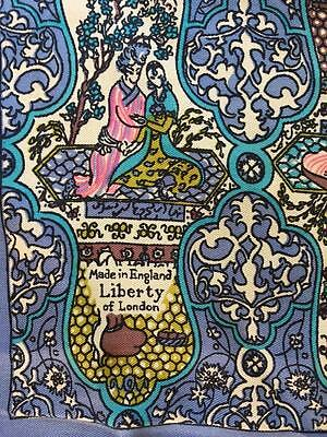 Lovely Vintage New in the Box Liberty of London Silk Scarf Indian Motif