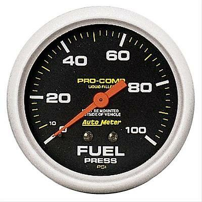 "Au5412 Autometer Fuel Pressure Gauge Liquid Filled 2.5/8"" 0-100 Psi"