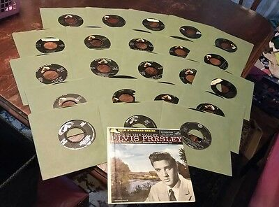 Lot of 23. Elvis Presley 45 rpm records Peace in the Valley pic sleeve 2.Army ed