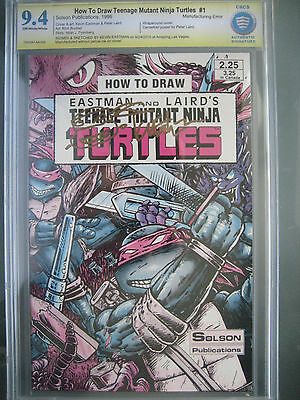 How to Draw TMNT #1 Error CBCS 9.4 AS **Signed & Sketch Kevin Eastman** like CGC