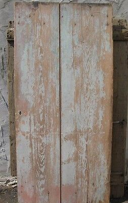 Early American Primitive Bucks County, Pa. Wide Plank Barn Door, Old Growth Pine