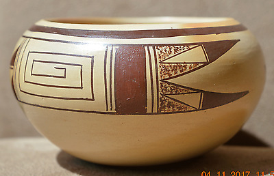 ALICE DASHEE b.1944 HOPI Polychrome Black and Red on Yellow Bowl 2004