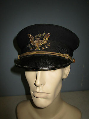 Us Army 1902 All Branch Officer Dress Hat Heavy Bullion Early Eagle Embroidery
