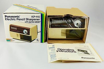 Vintage Panasonic KP-110 Auto-Stop Electric Pencil Sharpener, **New Old Stock**