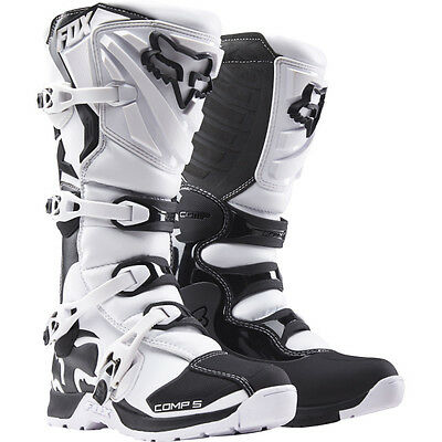 NEW FOX Racing 2017 Comp 5 White Adult MX Boots Motocross Offroad Dirtbike