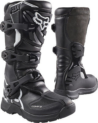 New FOX Racing Comp 3 Black 2017 Kids Youth MX Offroad Motorbike Boots New Model