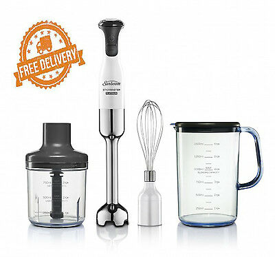 Handheld Blender Stick Mixer Platinum Stickmaster Sunbeam Electric Whisk Motor