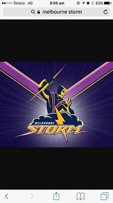 2x tickets to Melbourne Storm V's Panthers 1st of April