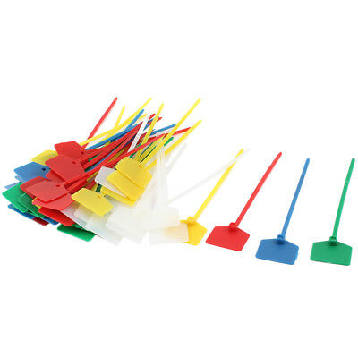 3mm x 120mm Colorful Self-locking Plastic Lables Cable Cord Tie Fastener 50pcs