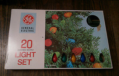 VTG* MCM* General Electric 20 Christmas light set* C7* L7-20* tested* original*