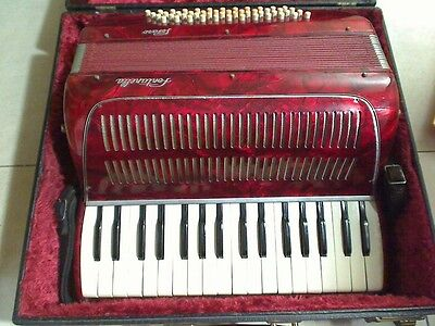 Vintage Fontanella Pesano Accordion 48 key with case & Bonus Sheet Music