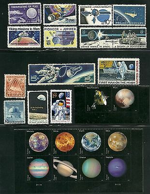 Usa  Attractive Collection Space Exploration Postage Stamps