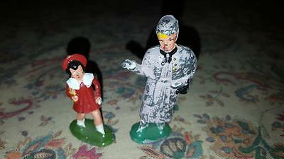 Vintage Lead Figures Barclay Old Woman And Child