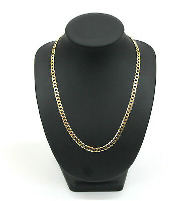 Unisex 9K Solid Yellow Gold Curb Link Chain Necklace 26.0 Grams