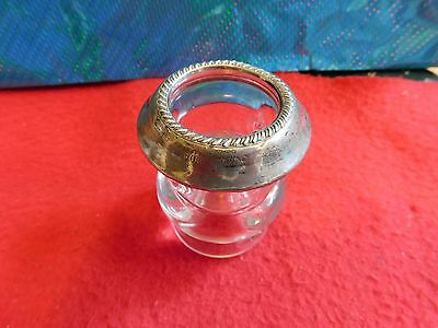 Toothpick Holder Sterling Silver Weighted Top by Saben