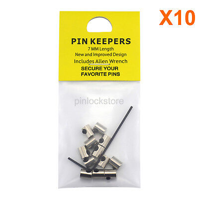 120 PCS 7MM Pin Keepers/Pin Locks/Locking Pin Backs-Secure Your Favorite Pins!