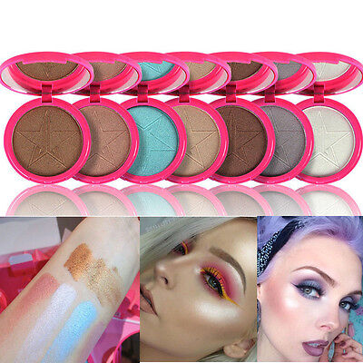 Jefre Star Beauty Makeup Skin Frost Highlighter Face Shadows Glow Kit Powders XP