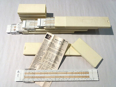 Faber Castell 152/82 slide rule LOT of 5 pcs complete with box and instructions