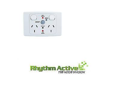 Clipsal 2025Rcd10 Lifesaver Rcd Protected Power Twin Outlet Wall Socket 10A/240