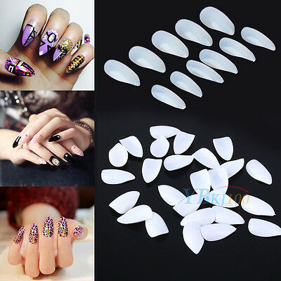 600 Nails Acrylic Full Cover French False Nail Art Tips UV Gel Manicure Tip JS
