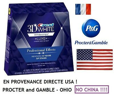 Professional Crest3D Effects Luxe White Dentaire Bandes Supreme