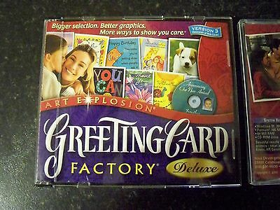 Art Explosion Greeting Card Factory Deluxe Version 3, 3 Pc Cd-Rom Set